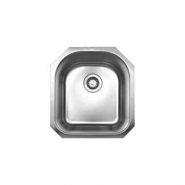 Whitehaus Noah Collection Single Bowl Undermount Kitchen Sink with Back Drain - No Faucet Drillings