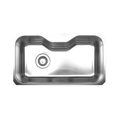 Whitehaus Noah Collection Stainless Steel Undermount Kitchen Sink - No Faucet Drillings