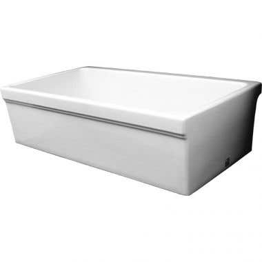 Whitehaus Collection Quatro Alcove Reversible Fireclay Sink - No Faucet Drillings