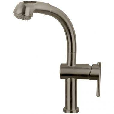Whitehaus Waterhaus Single Hole Kitchen Faucet with Pull out Spray
