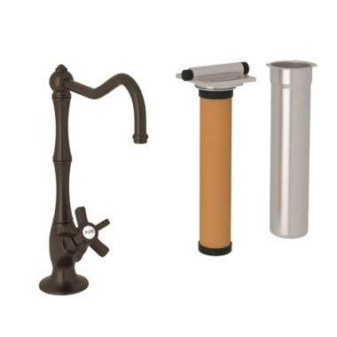 ROHL Low Lead Country Kitchen Column Spout Filter Faucet with 5 Spoke Handle