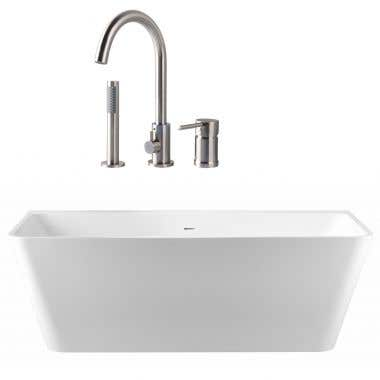 Axton Acrylic Double Ended Freestanding Bathtub Package