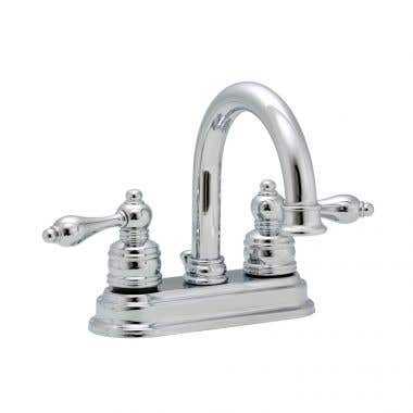 Banner 690 Series 4-inch Sink Faucet Set with Chrome lever handles