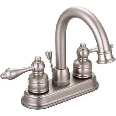 Banner 690 Series 4-inch Faucet Set with Brushed Nickel lever handles