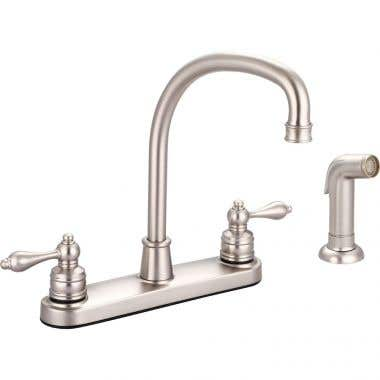 B766-SB-SBanner 760 Series Kitchen Faucet with Side Spray with Metal Lever Handles