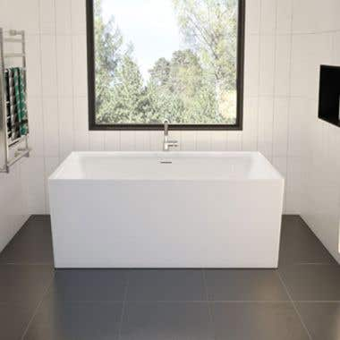 Aria Accoustic 57 Inch Acrylic Double Ended Freestanding Bathtub