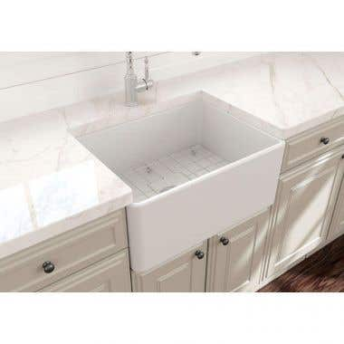 24 In Apron Front Fireclay Single Bowl Kitchen Sink
