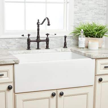Randolph Morris 30 Inch Reversible Fireclay Farmhouse Sink