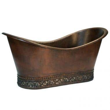 Premier Copper Products 67 Inch Double Slipper Tub