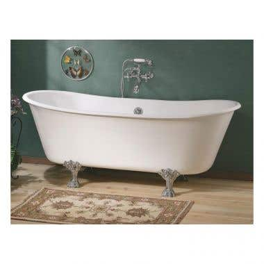 Cheviot Winchester 68 Inch Cast Iron Double Ended Clawfoot Tub - No Faucet Drillings