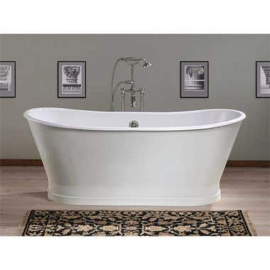 Cheviot Balmoral 68 Inch Cast Iron Double Ended Pedestal Tub - No Faucet Drillings.