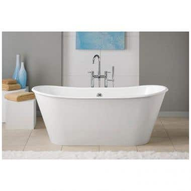 Cheviot Iris 68 Inch Cast Iron Double Ended Clawfoot Tub - No Faucet Drillings