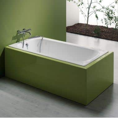 59 INCH CAST IRON DROP IN TUB - NO FAUCET DRILLINGS