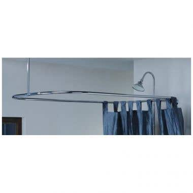 Cheviot 54 Inch x 24 Inch Rectangular Shower Enclosure with Support