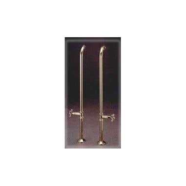 Cheviot Free Standing Clawfoot Bath Tub Supply Lines with Cut Off Valves