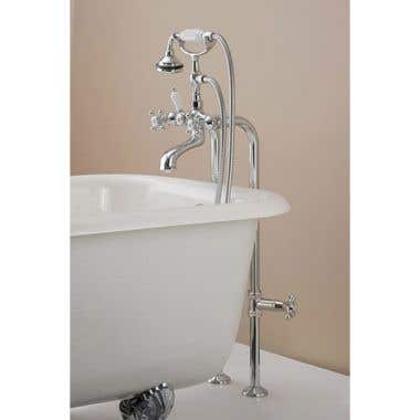 Cheviot Freestanding Claw Foot Tub Hand Shower Faucet with Shut-off Valve