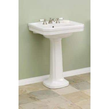 Cheviot Large Mayfair Pedestal Sink Lavatory - 8 Inch Faucet Drillings