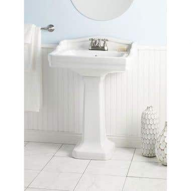 Cheviot Small Essex Pedestal Lavatory Sink - 4 Inch Faucet Drillings