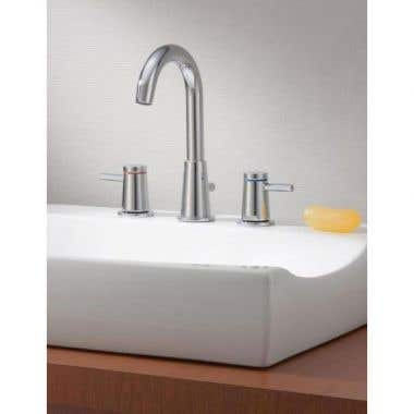 Cheviot Contemporary Widespread Bathroom Sink Faucet with Pop-Up