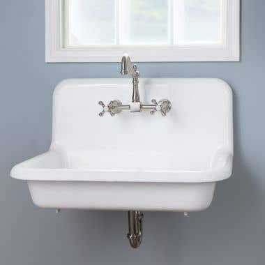 30 Inch Cast Iron High Back Farm Sink