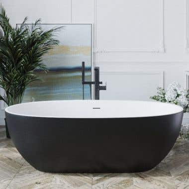 Aquatica Corelia Solid Surface 66 Inch Freestanding Double Ended tub
