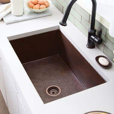 Native Trails Cocina 33 Inch Undermount Copper Kitchen Sink