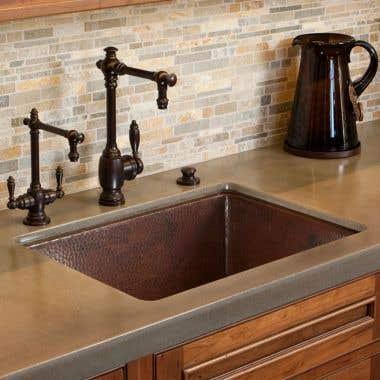 Native Trails Cocina 24  Inch Undermount Copper Kitchen Sink