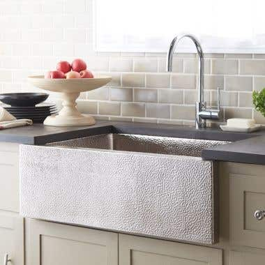 Native Trails Pinnacle 33 Inch Apron Front Copper Kitchen Sink