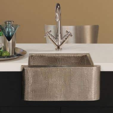 Native Trails Cabana 18 Inch Copper Apron Front Bar and Prep Sink