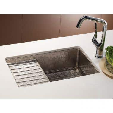 Native Trails Cantina Pro 24 Inch Copper Undermount Bar and Prep Sink with Drainboard