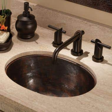 Native Trails Cameo Hammered Copper Bathroom Sink