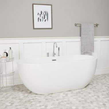Hudson Acrylic Double Ended Freestanding Tub Package