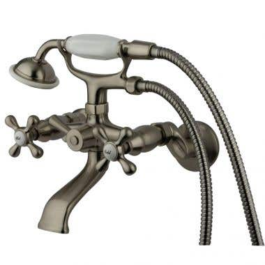 Kingston Brass British Telephone Tub Faucet With Hand Shower