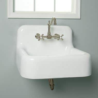 Randolph Morris Daisy 25 Inch Cast Iron Farmhouse Sink - 8 Inch Faucet Drillings