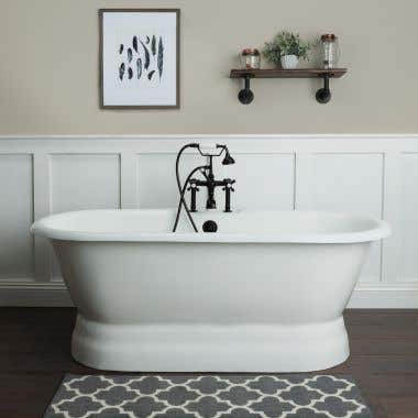 Randolph Morris Tub Package 18: 66-inch Double Ended Pedestal Bathtub with British Telephone Faucet