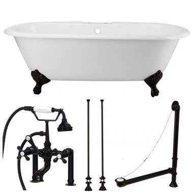 Oil Rubbed Bronze Tub Set