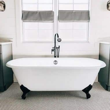 Randolph Morris Cast Iron Double Ended Clawfoot Tub - No Faucet Drillings