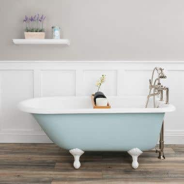 Heritage Cast Iron Classic Clawfoot Tub - Rim Faucet Drillings