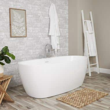 Luna Acrylic Double Ended Freestanding Tub Package - No Faucet Drillings