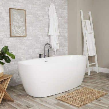 Luna Acrylic Double Ended Freestanding Tub Package