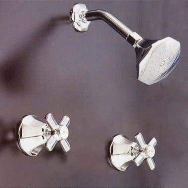 Strom Plumbing Mississippi Two Handle Shower Only Faucet Set with Metal Cross Handles