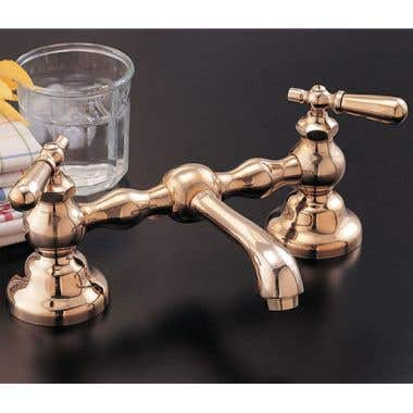 Strom Plumbing Columbia Bridge Faucet with Lever Handles - 8 Inch Centers