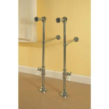 Strom Plumbing Freestanding Clawfoot Bath Tub Supply Lines for use with Shower Enclosures