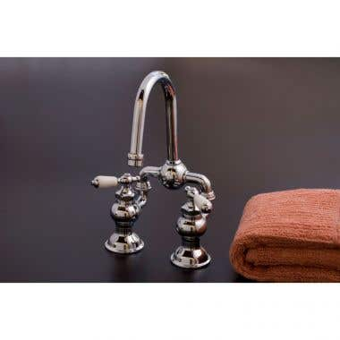 Strom Plumbing Adjustable Bridge Faucet with Lever Handles - 4 to 6 Inch Centers