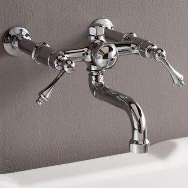Strom Plumbing Traditional Wall Mount Tub Faucet - Lever Handles