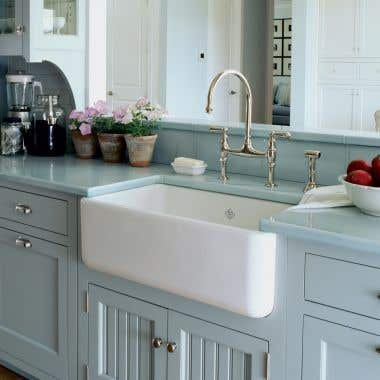 Rohl Shaws Lancaster Fireclay Apron Front Kitchen Sink