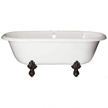 Restoria Marquis Acrylic Double Ended Clawfoot Tub - Rim Faucet Drillings