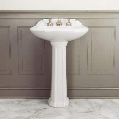 Greco 25 Inch Pedestal Sink - 8 Inch Faucet Drillings