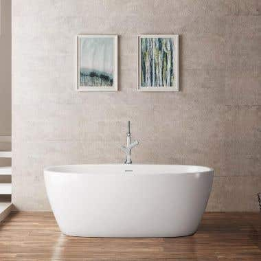 Luna Acrylic Double Ended Freestanding Tub - No Faucet Drillings