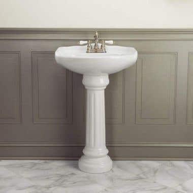 Oxford 23 Inch Pedestal Sink - White